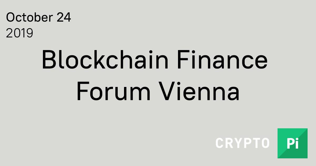 Blockchain Finance Forum Vienna