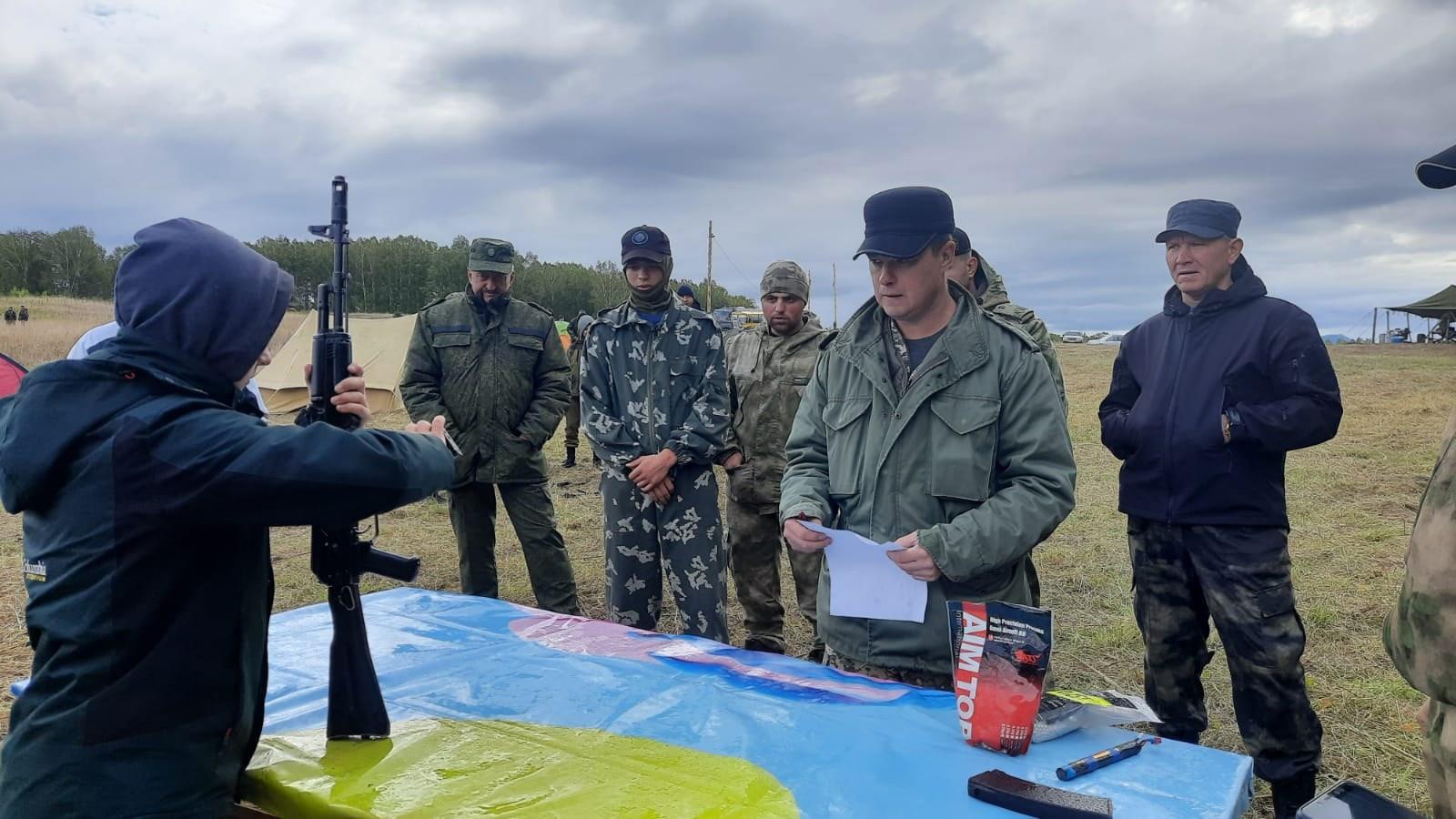 Воспитанники ветерана СОБР Росгвардии из Башкирии приняли участие в военно-патриотической  эстафете в Челябинской области