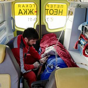 «Петербургская Неотложка» выполнила медицинскую эвакуацию пациента в Литву