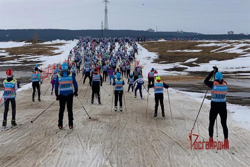 Офицеры Уральского округа Росгвардии стали абсолютными победителями VIII Югорского лыжного марафона