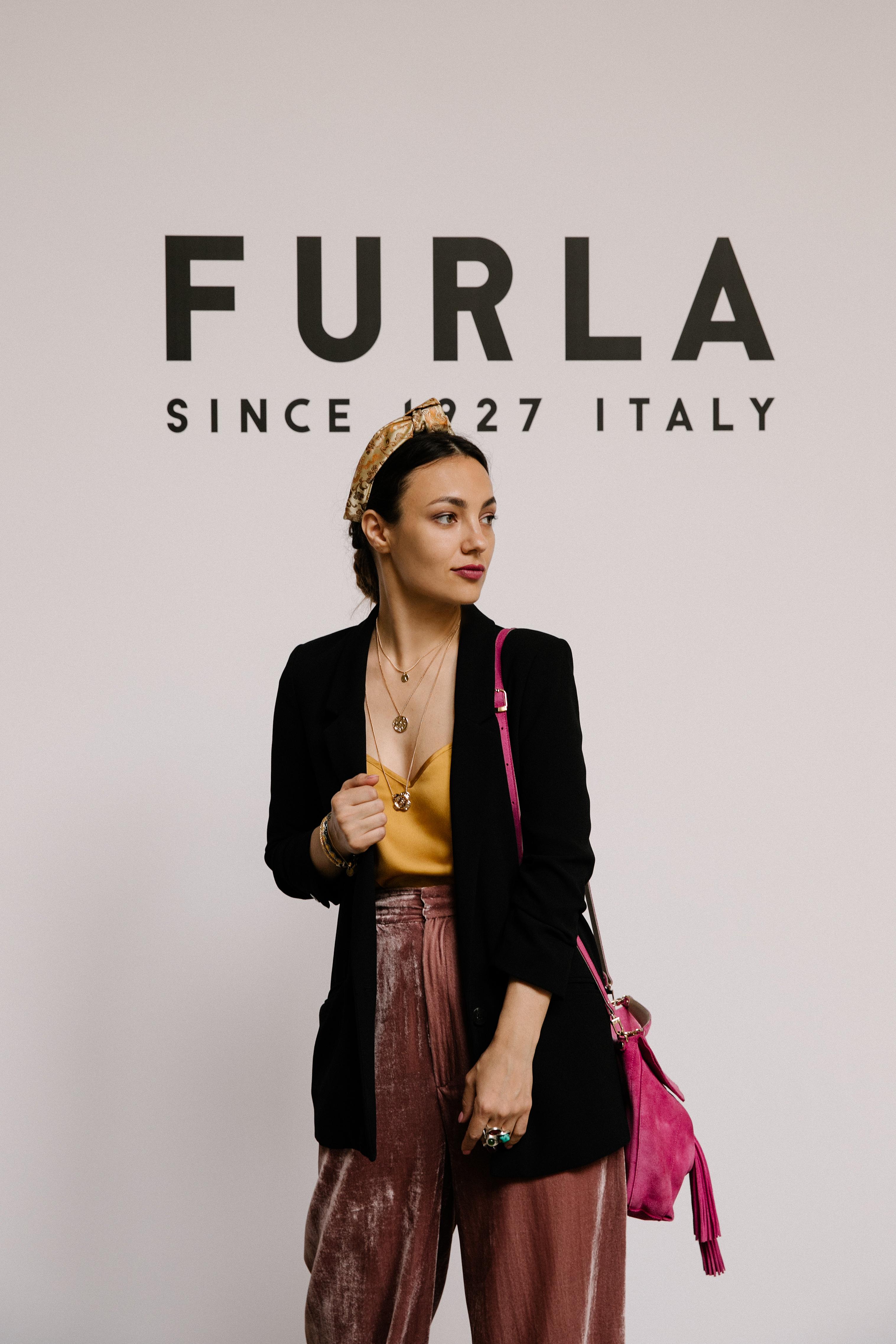 BeretkAh…! на презентации Furla в Милане