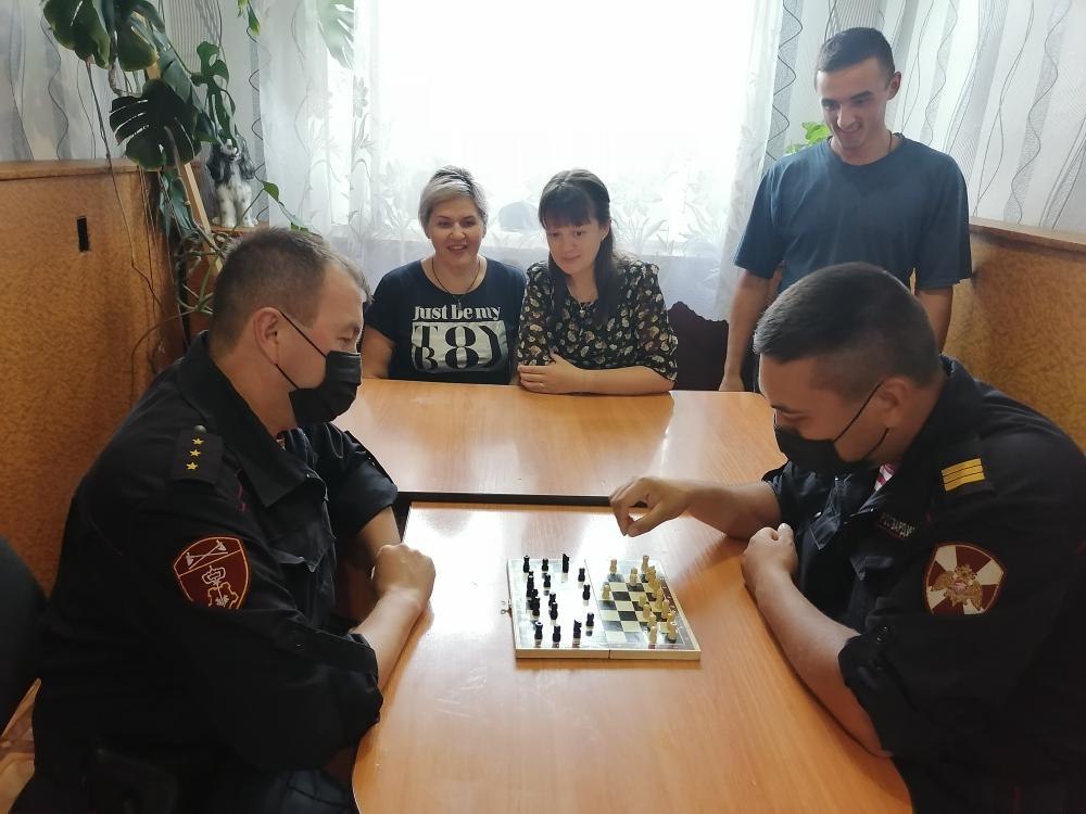 В Башкирии росгвардейцы провели турнир по шахматам