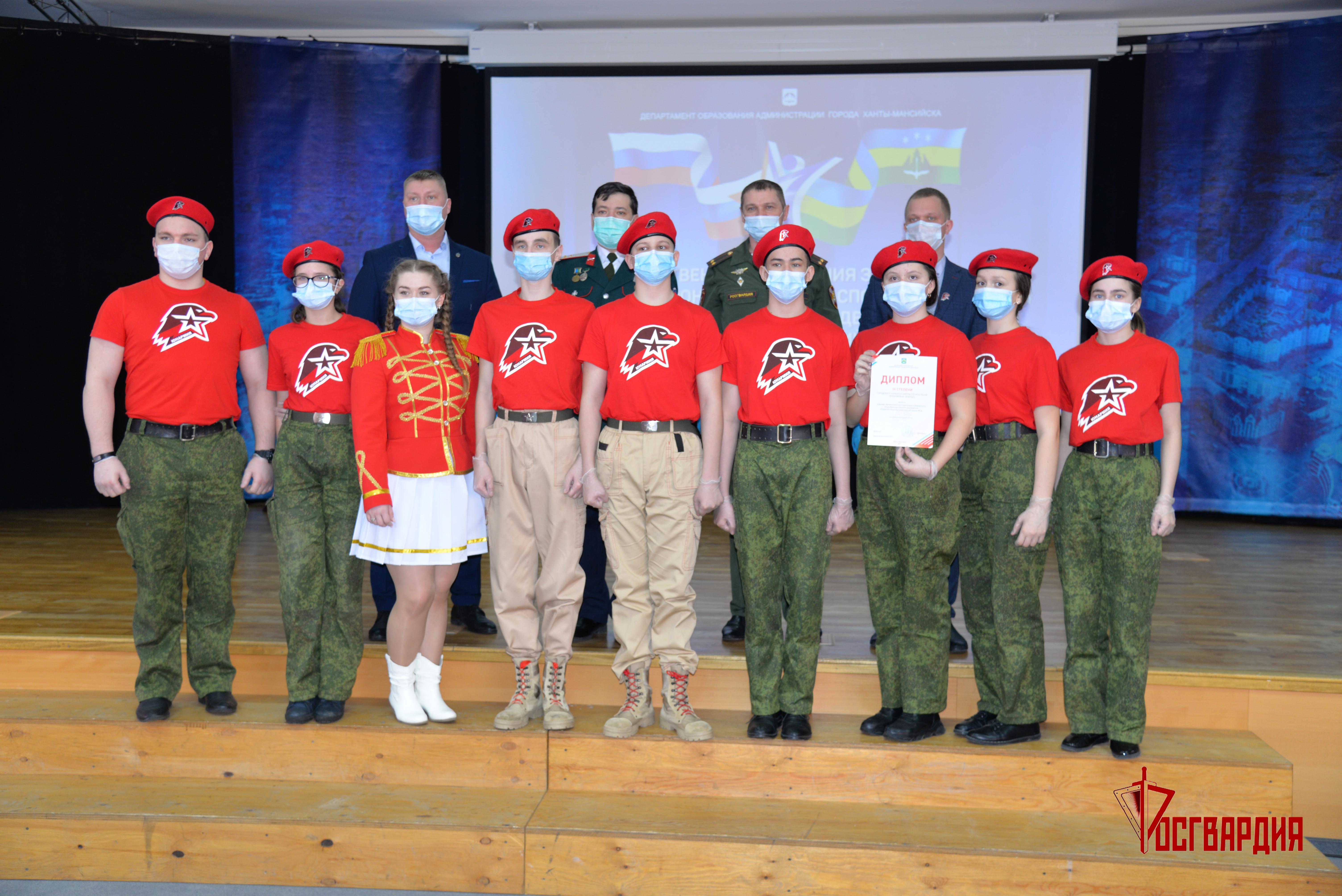 В Югре военнослужащие и сотрудники Росгвардии вошли в состав жюри конкурсов строя и песни